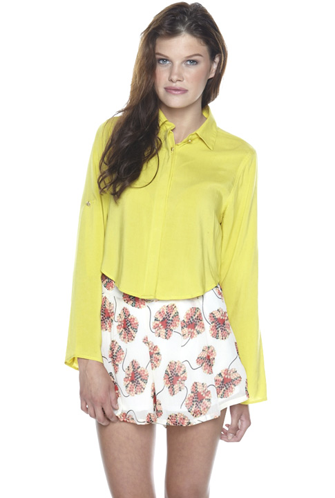 Shoptiques SlideShow Cropped Blouse