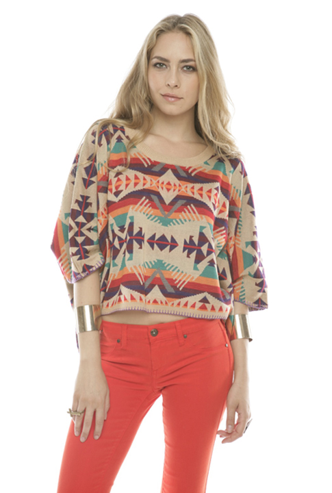 Shoptiques SlideShow Tribal-Print Sweater