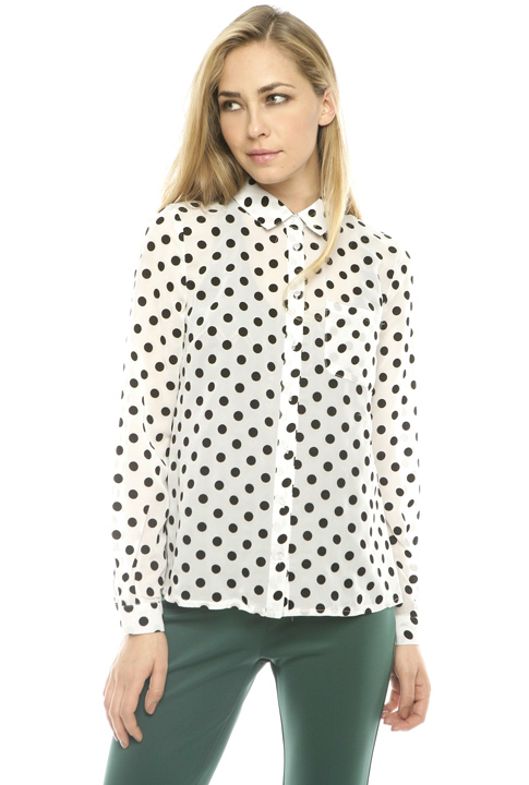 Shoptiques SlideShow Polka-Dot Blouse
