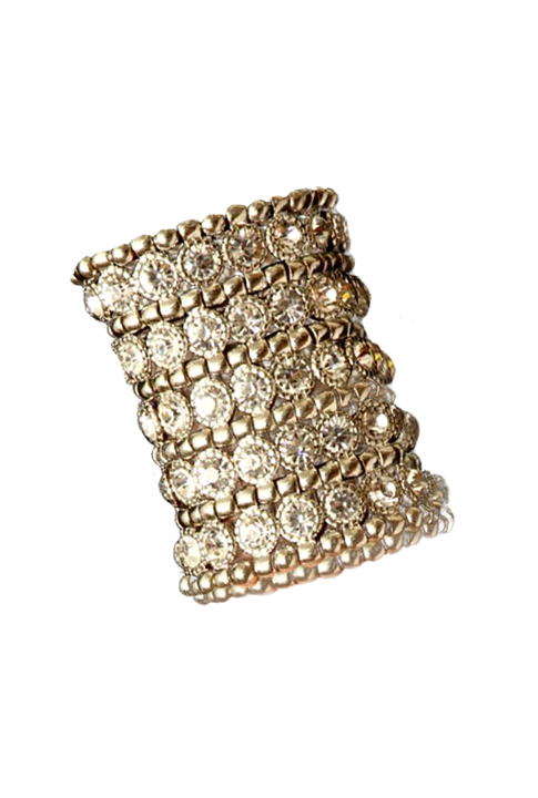 Shoptiques SlideShow Crystal Studded Cuff