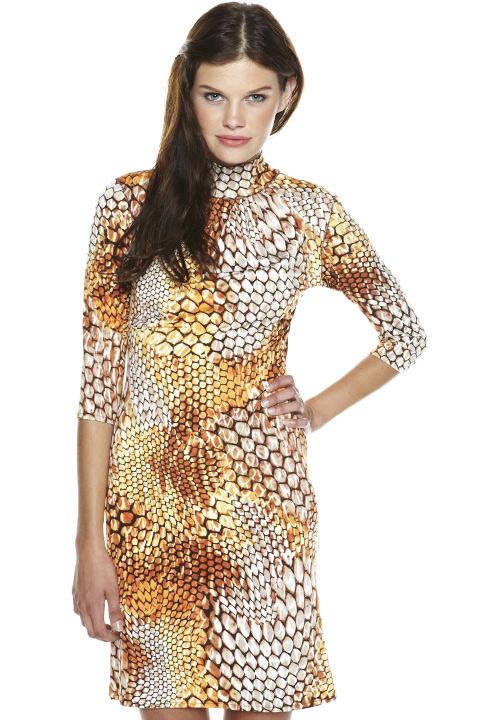 Shoptiques SlideShow Python-Print Dress