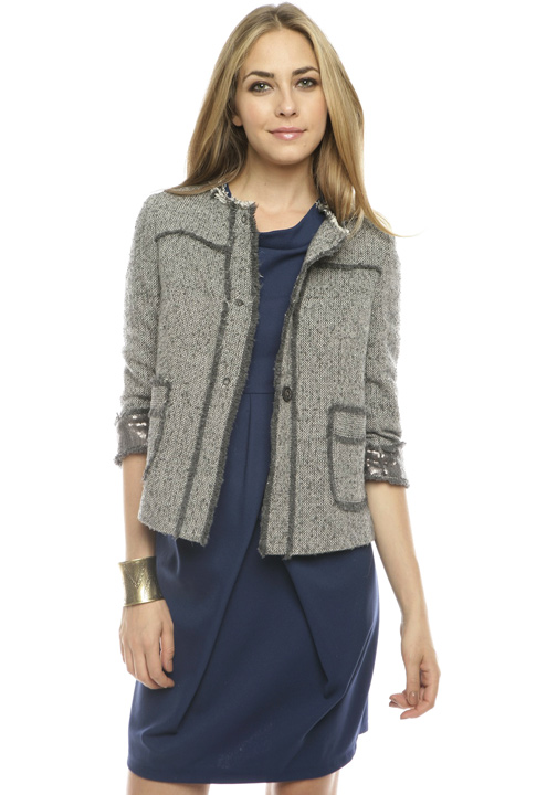 Shoptiques SlideShow Cropped Wool Tweed Jacket