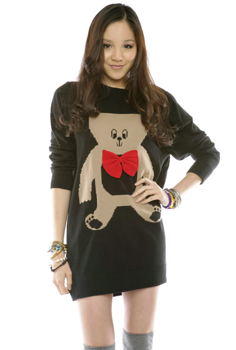 Shoptiques SlideShow Teddy Bear Sweaterdress