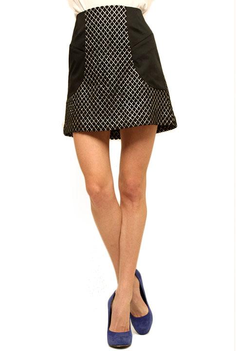 Shoptiques SlideShow Geo-Print Miniskirt