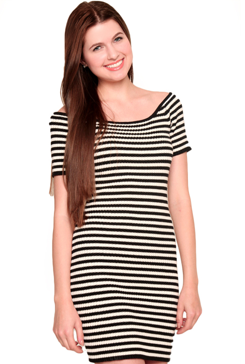 Shoptiques SlideShow Striped Cotton Dress
