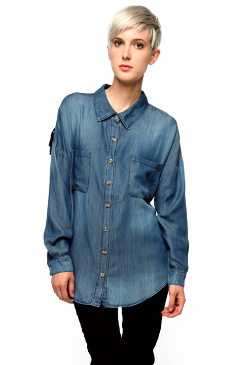 Shoptiques SlideShow Denim Button-Down