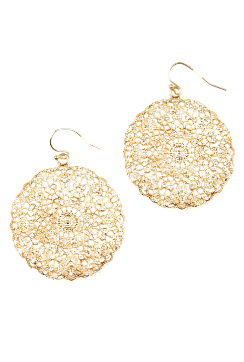 Shoptiques SlideShow Filigree Crystal Earrings