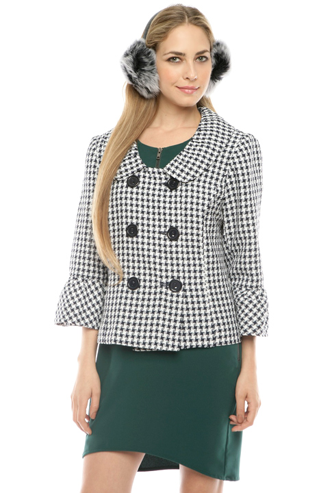 Shoptiques SlideShow Houndstooth Peacoat