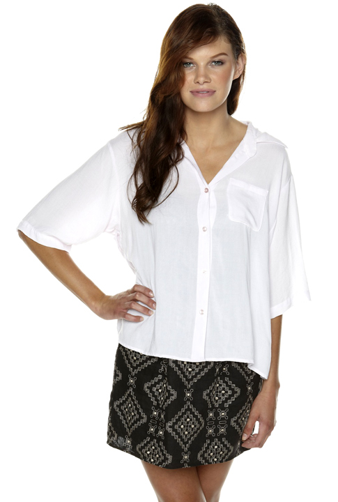 Shoptiques SlideShow One-Pocket Blouse