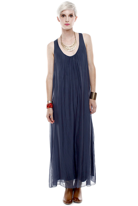 Shoptiques SlideShow Slim Down Thighs <br> ...with a floaty maxi dress