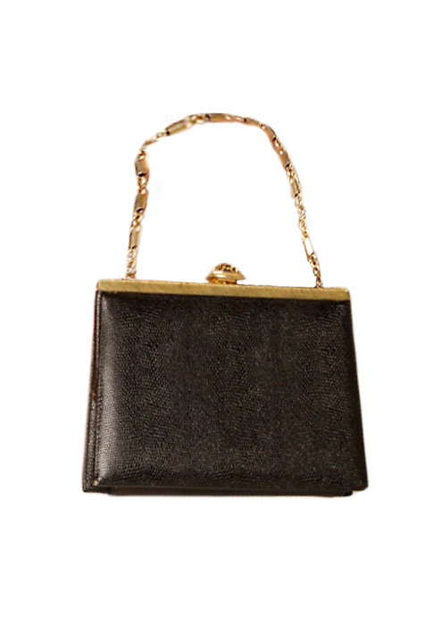 Shoptiques SlideShow Gold-Chain Bag