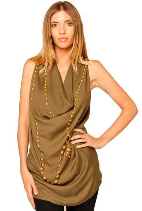 Shoptiques SlideShow Army Green Top