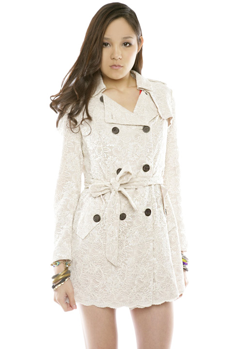 Shoptiques SlideShow Lace Trench Coat