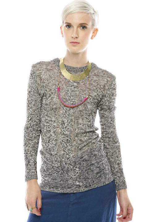 Shoptiques SlideShow Cable-Knit Sweater
