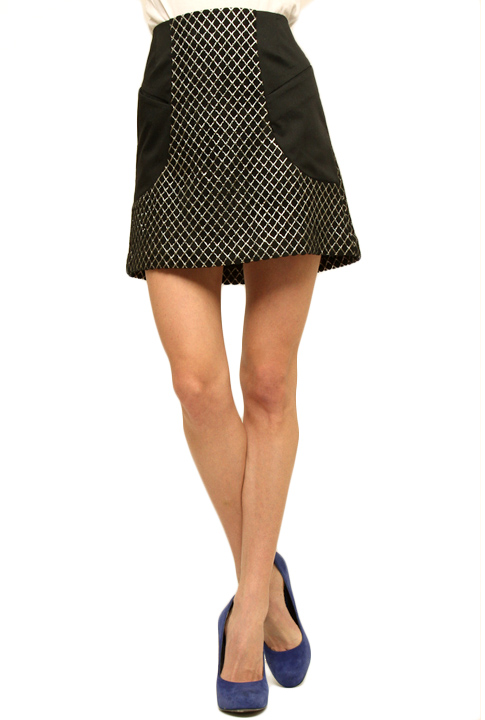 Shoptiques SlideShow Geometric-Print Skirt