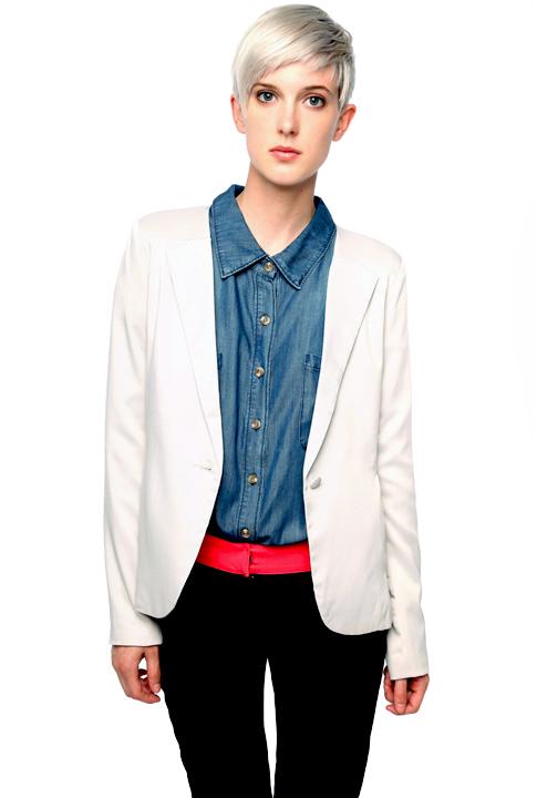 Shoptiques SlideShow One-Button Blazer