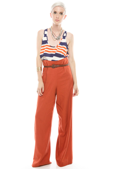 Shoptiques SlideShow Sailor Stripes and<br> Wide-Leg Pants