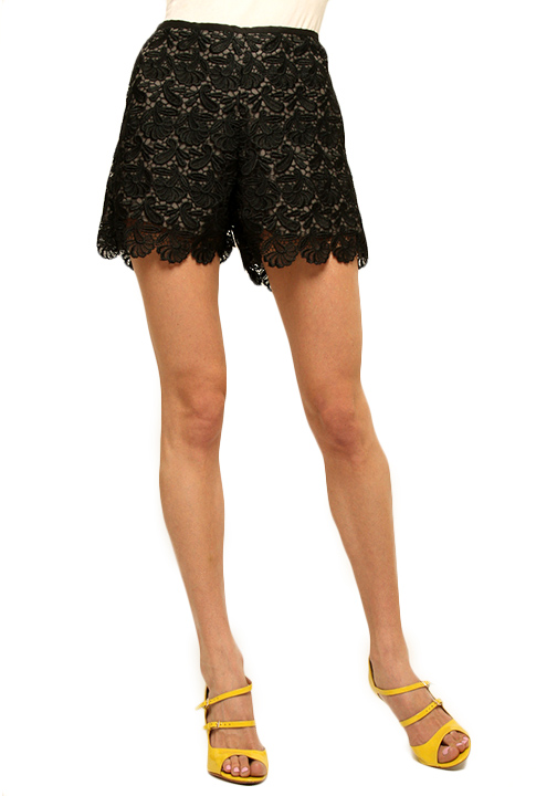 Shoptiques SlideShow Lace Shorts