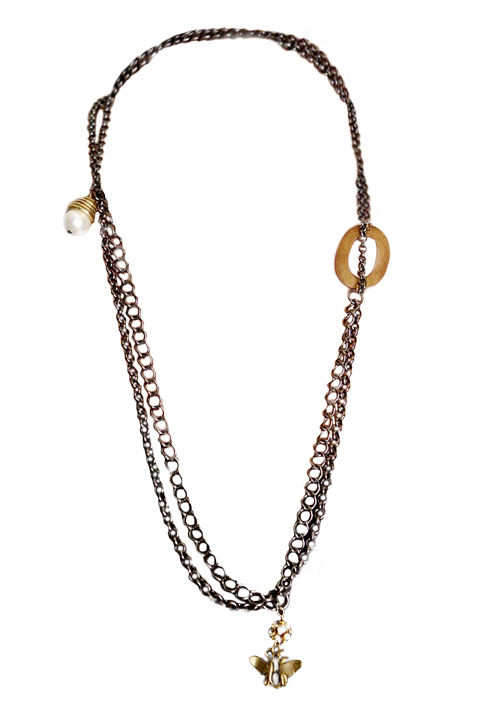 Shoptiques SlideShow Black Chain Necklace
