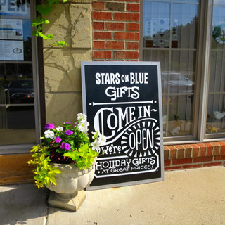 Stars on Blue Gifts in Cleveland