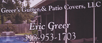 Website for Greer's Gutters & Patio Covers