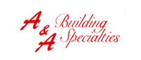 Website for A & A Building Specialties, Inc.