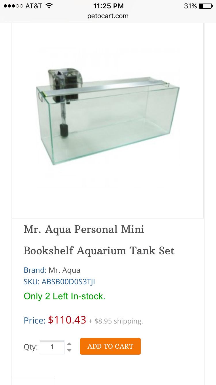 Mr Aqua Serene Baby 15 Gallon Frameless Glass
