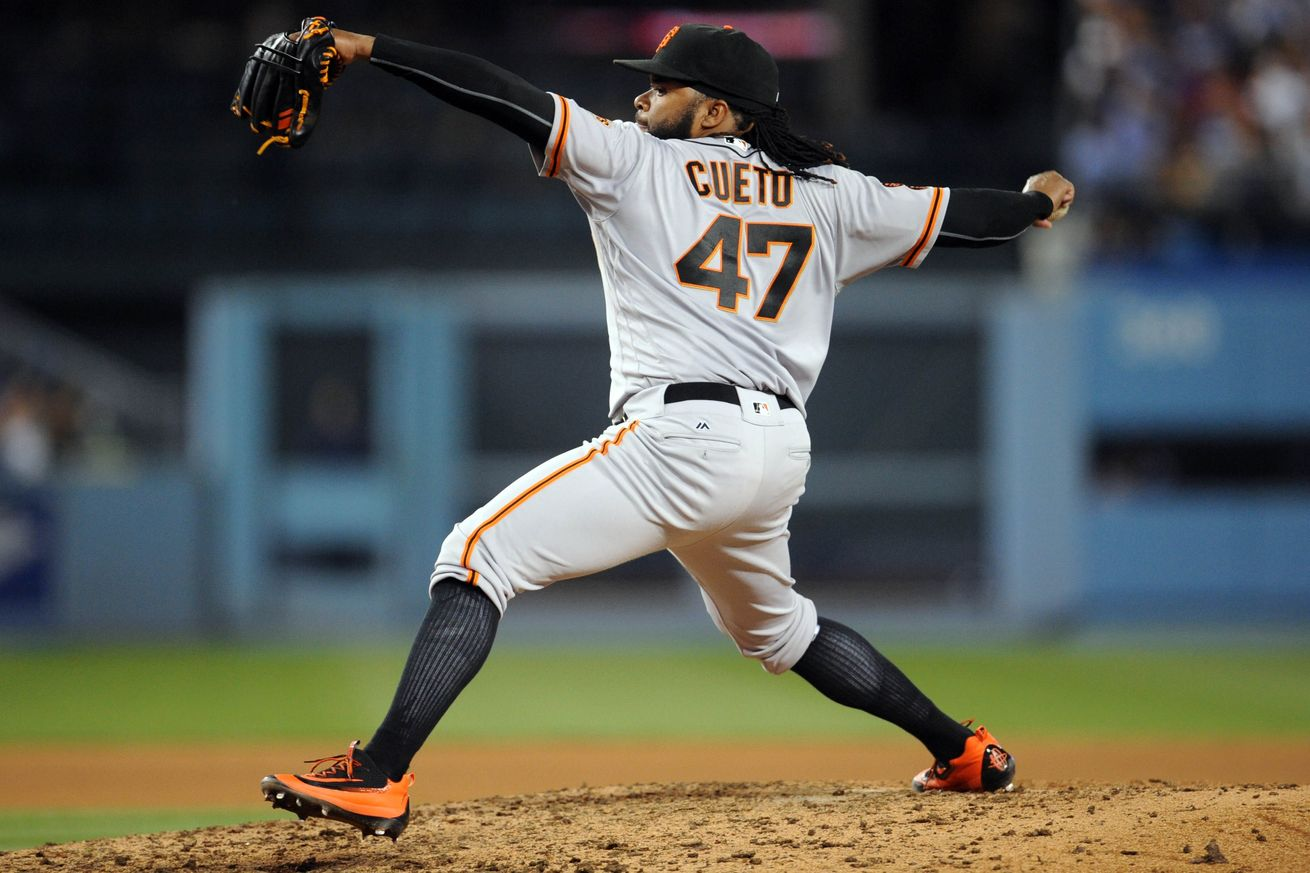 If San Fran makes the postseason, it still has a 1-2 punch of sub-3.00 ERA hurlers in Johnny Cueto and Madison Bumgarner