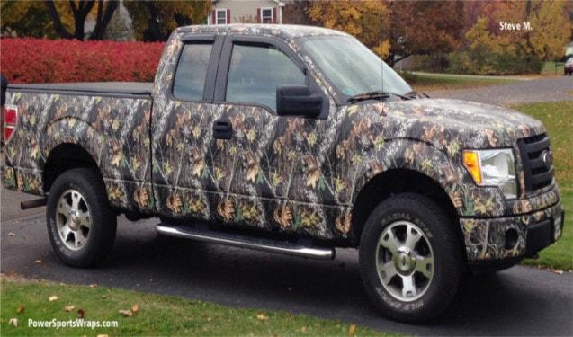 Camouflage Mossy Oak Vinyl Truck Wrap