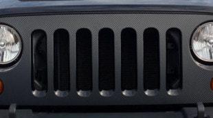 Jeep Wrangler JK Carbon Fiber Grill Wrap