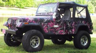 Muddy Girl Camo Jeep