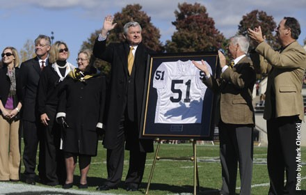 Wofford College Athletics - Jerry Richardson Jersey Retirement