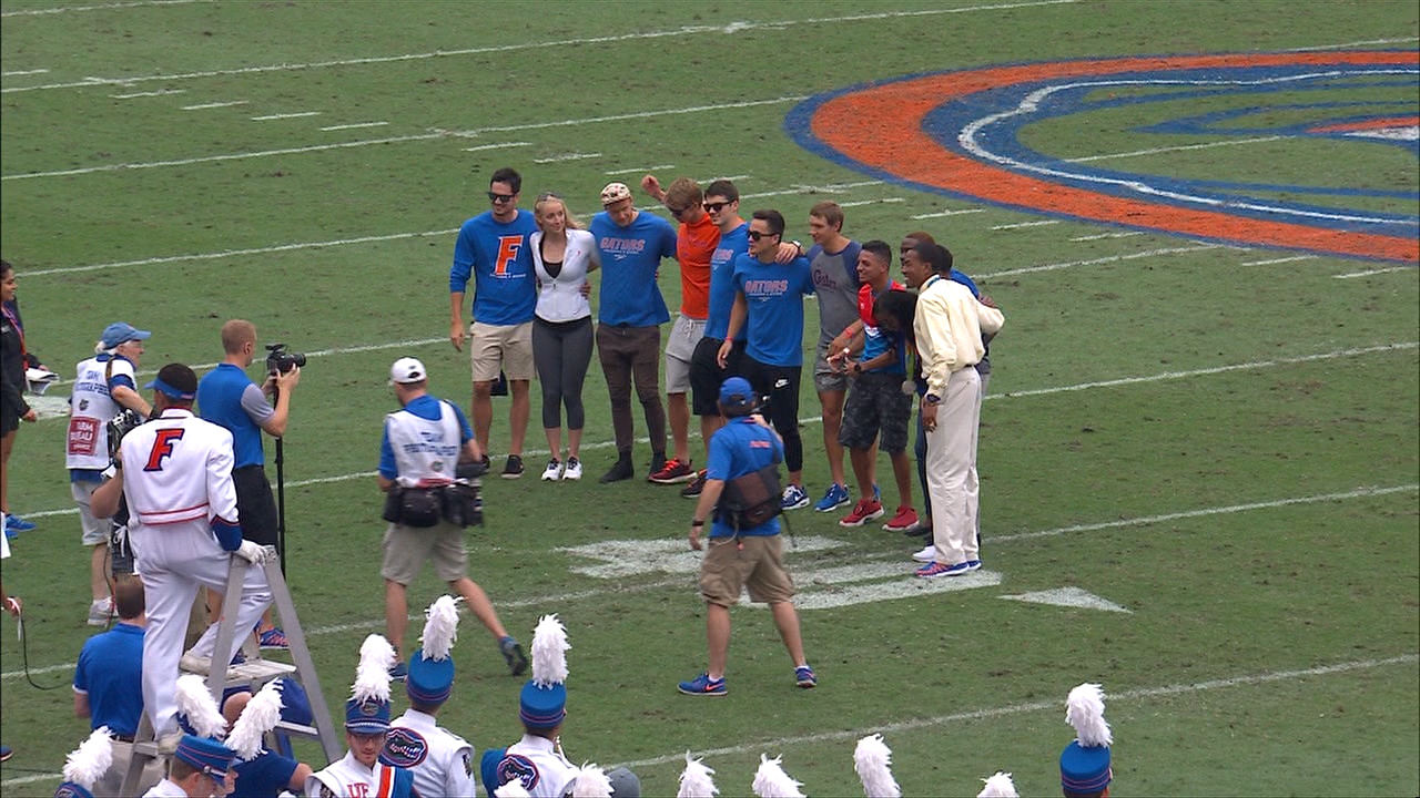 Gator Olympians On-Field Recognition