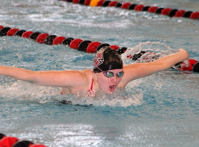 Marks Sets Pool Record As Pioneer Women 39 S Swimming And Diving Team Beats Macalester Grinnell