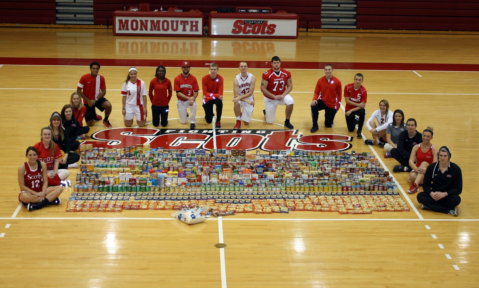 Monmouth College - Scots stepped up to the plate in Canned ...