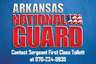 Arkansas National Guard Website Ad