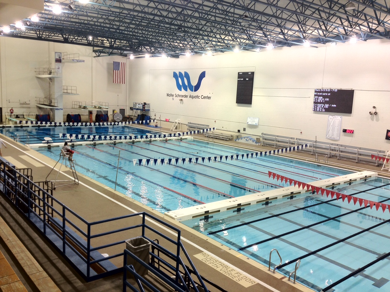 Men 39 s swimming diving team fourth after day two university of wisconsin la crosse University of wisconsin swimming pool