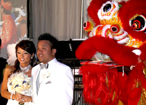 chinese lion dance, chinese lion dance wedding, chinese wedding, lion dance wedding