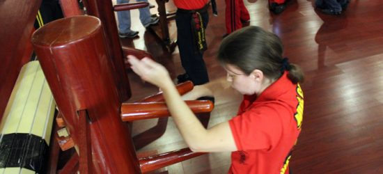 Advanced Wing Chun wooden dummy training