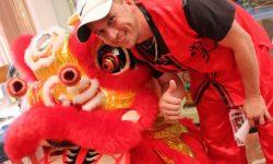 Chinese lion dance team