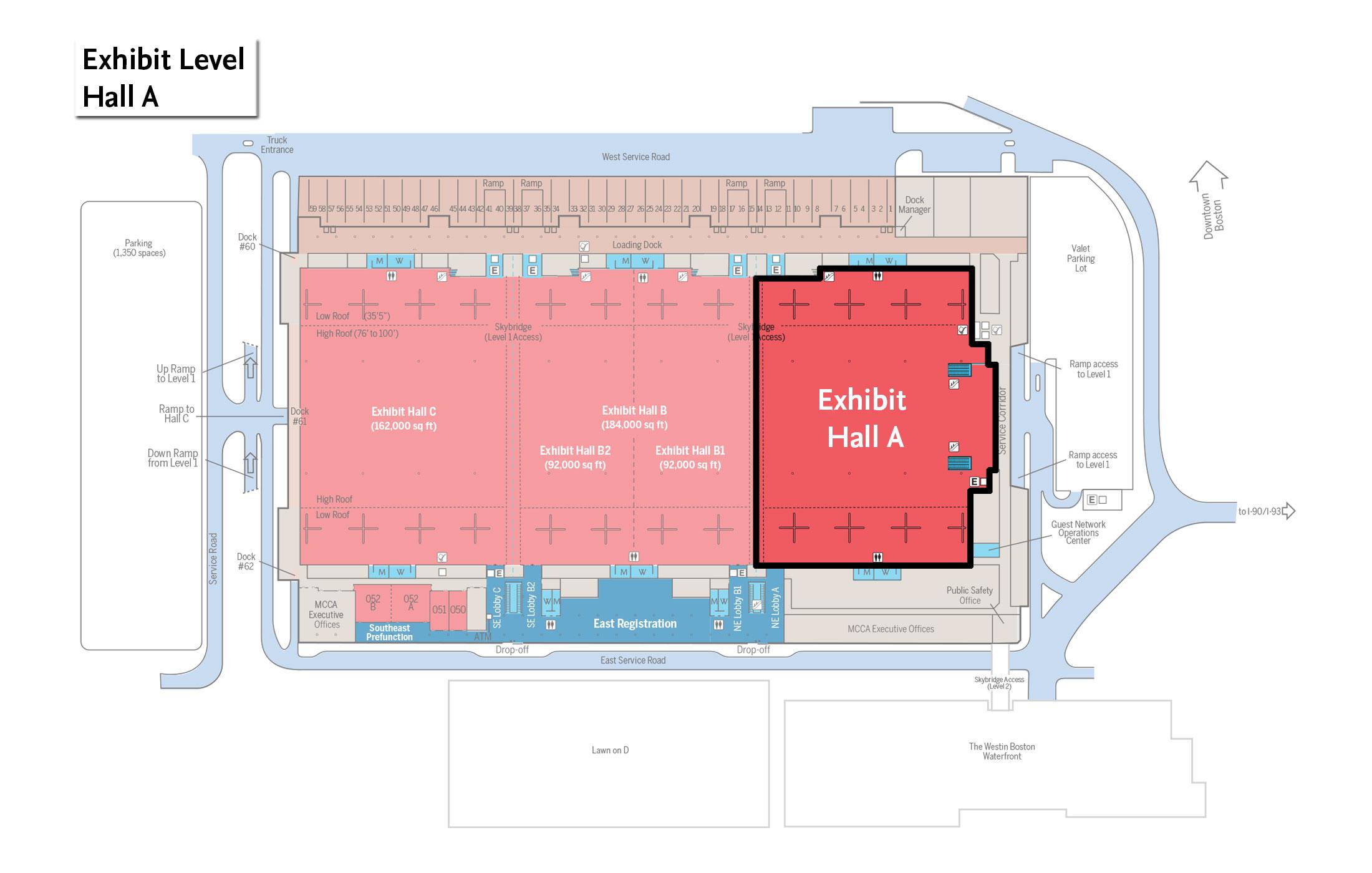 Exhibit halls signature boston for Room layout website