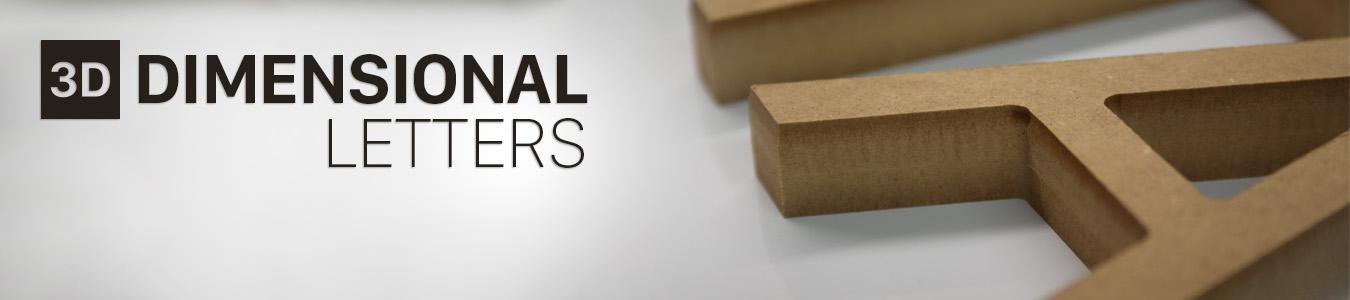 3 dimensional lettering banner image