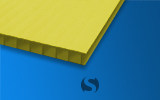 4mm Corrugated Plastic (Yellow)