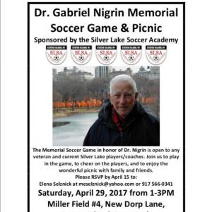 1st Annual Dr. Gabriel Nigrin Memorial Soccer Game & Picnic