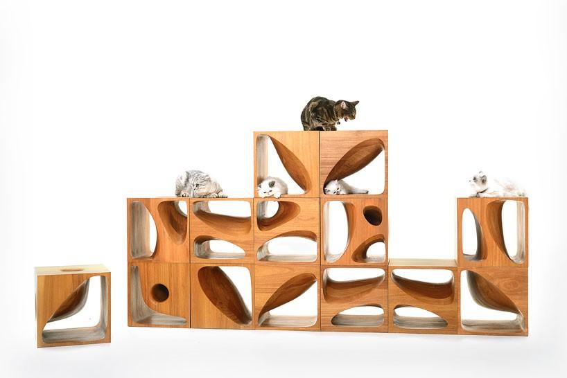 stylish cat furniture. Cat-table-2.0-LYCS-architecture-designboom-02-818x546 Stylish Cat Furniture
