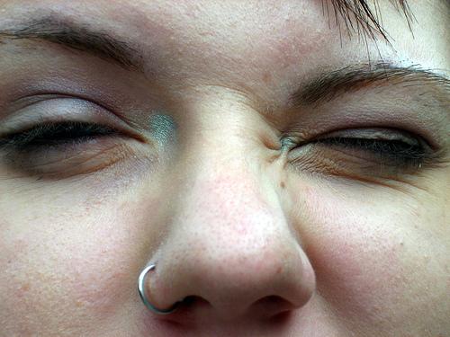 squint eye photo