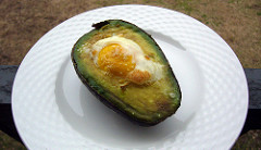 egg in avocado photo