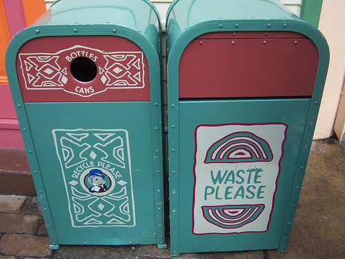 disneyland trash can photo