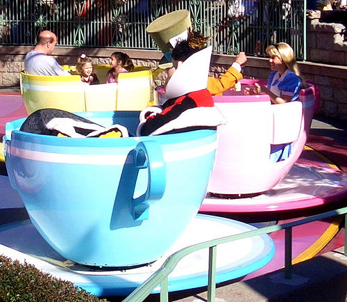 disneyland teacups photo