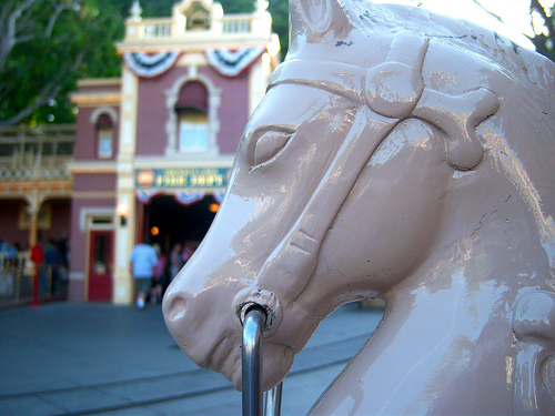 disneyland hitching posts photo